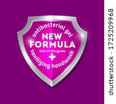 new formula logo. sanitizer gel ... | Shutterstock .eps vector #1725209968