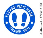 please wait here thank you keep ... | Shutterstock .eps vector #1725211108