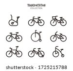 variety of bicycle vector set   Shutterstock .eps vector #1725215788