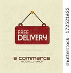 free delivery over beige   ... | Shutterstock .eps vector #172521632
