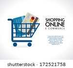 ecommerce design over gray ... | Shutterstock .eps vector #172521758