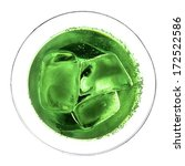abstract view of green cocktail ... | Shutterstock . vector #172522586