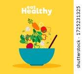 healthy food poster. vegetables ...   Shutterstock .eps vector #1725231325