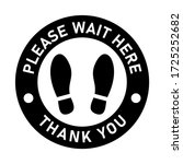 please wait here thank you keep ... | Shutterstock .eps vector #1725252682