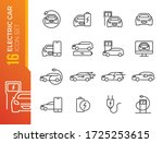 simple set of electro car... | Shutterstock .eps vector #1725253615