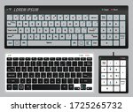 set of realistic keyboard pc or ... | Shutterstock .eps vector #1725265732