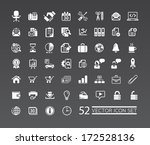 web icons for business  finance ... | Shutterstock .eps vector #172528136