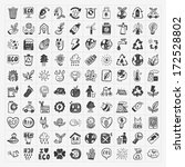 doodle eco icons | Shutterstock .eps vector #172528802