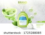 ad template of hand wash ... | Shutterstock .eps vector #1725288085