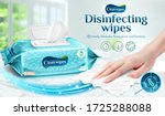 cleaning wipes ad template ... | Shutterstock .eps vector #1725288088