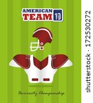 american football design over ... | Shutterstock .eps vector #172530272