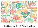 pattern combination  of hand...   Shutterstock .eps vector #1725317305