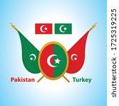 pakistan flag and turkey flag    Shutterstock .eps vector #1725319225
