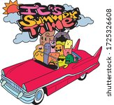 it's summer time doodle monster ...   Shutterstock .eps vector #1725326608