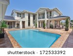 luxurious backyard with pool in ... | Shutterstock . vector #172533392