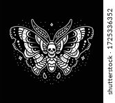 butterfly traditional tattoo... | Shutterstock .eps vector #1725336352