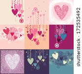 collection of nine backgrounds... | Shutterstock .eps vector #172535492