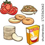 cartoon food items and... | Shutterstock .eps vector #1725362662