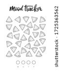 mood tracker ready to print on... | Shutterstock .eps vector #1725363562