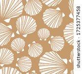 seamless pattern with seashells....   Shutterstock .eps vector #1725377458