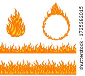fire and flame. set of design... | Shutterstock .eps vector #1725382015