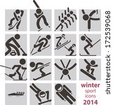 winter sport icons 2014 | Shutterstock . vector #172539068