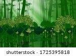 landscape of a mangrove forest... | Shutterstock .eps vector #1725395818