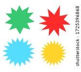 bursting shape speech bubbles... | Shutterstock .eps vector #1725396868