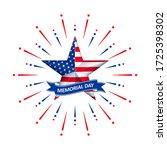 vector memorial day with star...   Shutterstock .eps vector #1725398302
