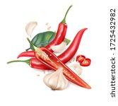 Chili Pepper With Chili Slice ...