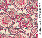 seamless pattern with paisley... | Shutterstock .eps vector #1725434212