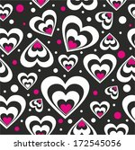 pattern with hearts on a black... | Shutterstock .eps vector #172545056