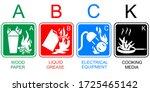 fire extinguisher label vector... | Shutterstock .eps vector #1725465142