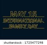 international family day  may...   Shutterstock .eps vector #1725477298