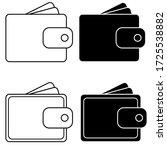 purse icon vector. wallet...