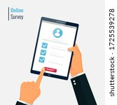 survey form online vector... | Shutterstock .eps vector #1725539278