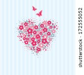 love card with heart made of... | Shutterstock .eps vector #172555052
