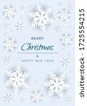 merry christmas and happy new...   Shutterstock .eps vector #1725554215
