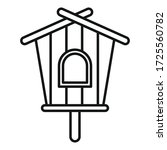 Modern Bird House Icon. Outlin...