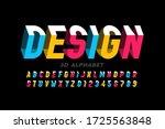 3d style modern font  alphabet... | Shutterstock .eps vector #1725563848