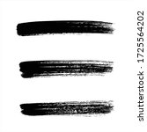 art black ink abstract brush... | Shutterstock .eps vector #1725564202