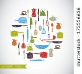 vector background with colorful ... | Shutterstock .eps vector #172556636
