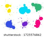 colorful splashes collection.... | Shutterstock .eps vector #1725576862