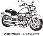 custom black motorcycle on a...