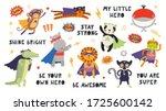 big set of cute animal... | Shutterstock .eps vector #1725600142