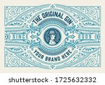 gin label with floral frame   Shutterstock .eps vector #1725632332