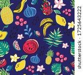 seamless pattern  tropical...   Shutterstock .eps vector #1725643222