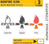 fire related premium icon with...