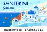 santorini island  greece.... | Shutterstock .eps vector #1725661912