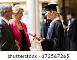 excited female graduate talking ... | Shutterstock . vector #172567265